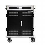 AC-PRO II 40 bay adjustable secure charging cart for chromebooks, iPads & laptops.