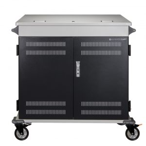 AC-MANAGE: 36 Bay Network Ready Secure Charging Cart, Front Closed View