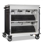 AC-MANAGE: 36 Bay Network Ready Secure Charging Cart, Front Open View