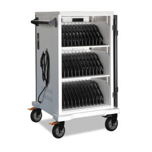 AC-SYNC: 36 Bay Secure Charging Cart with Sync & Charge USB System