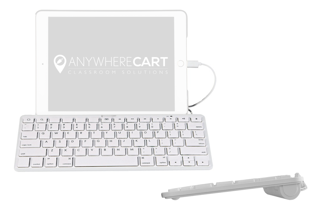 7f535b78c47 The Anywhere Cart Wired Lightning Keyboard is a low-profile keyboard that  features a Lightning connector for iOS devices and does not require an  external ...
