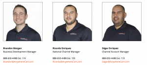 Anywhere Cart Channel Management Team