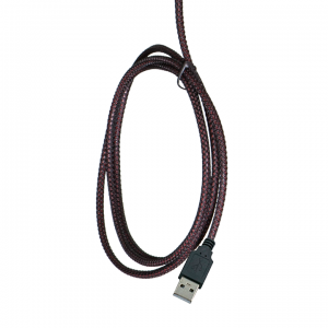 AC-HPM-USB-BLK: Classroom Headset, cable view