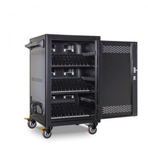 AC-LITE: 30 Bay Secure Charging Cart, Front Door Open View