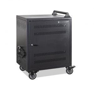 AC-30: 30 Bay Secure Charging Cart, Front Door Closed View