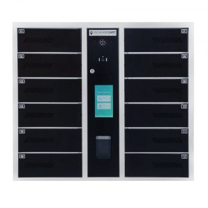 AC-LOCKER-24-FR, Upper Cabinet Screen Closed Doors View