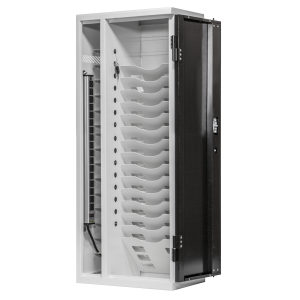 Anywhere Cart AC-VERT-16 Secure Charging Tower: Front, Open Image