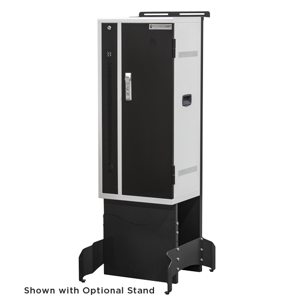 Anywhere Cart AC-VERT-16 Secure Charging Tower: Front View with Stand Image (Stand not included)