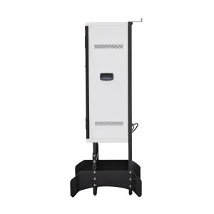 Anywhere Cart AC-VERT-16 Secure Charging Tower: Side View with Stand Image (Stand not included)