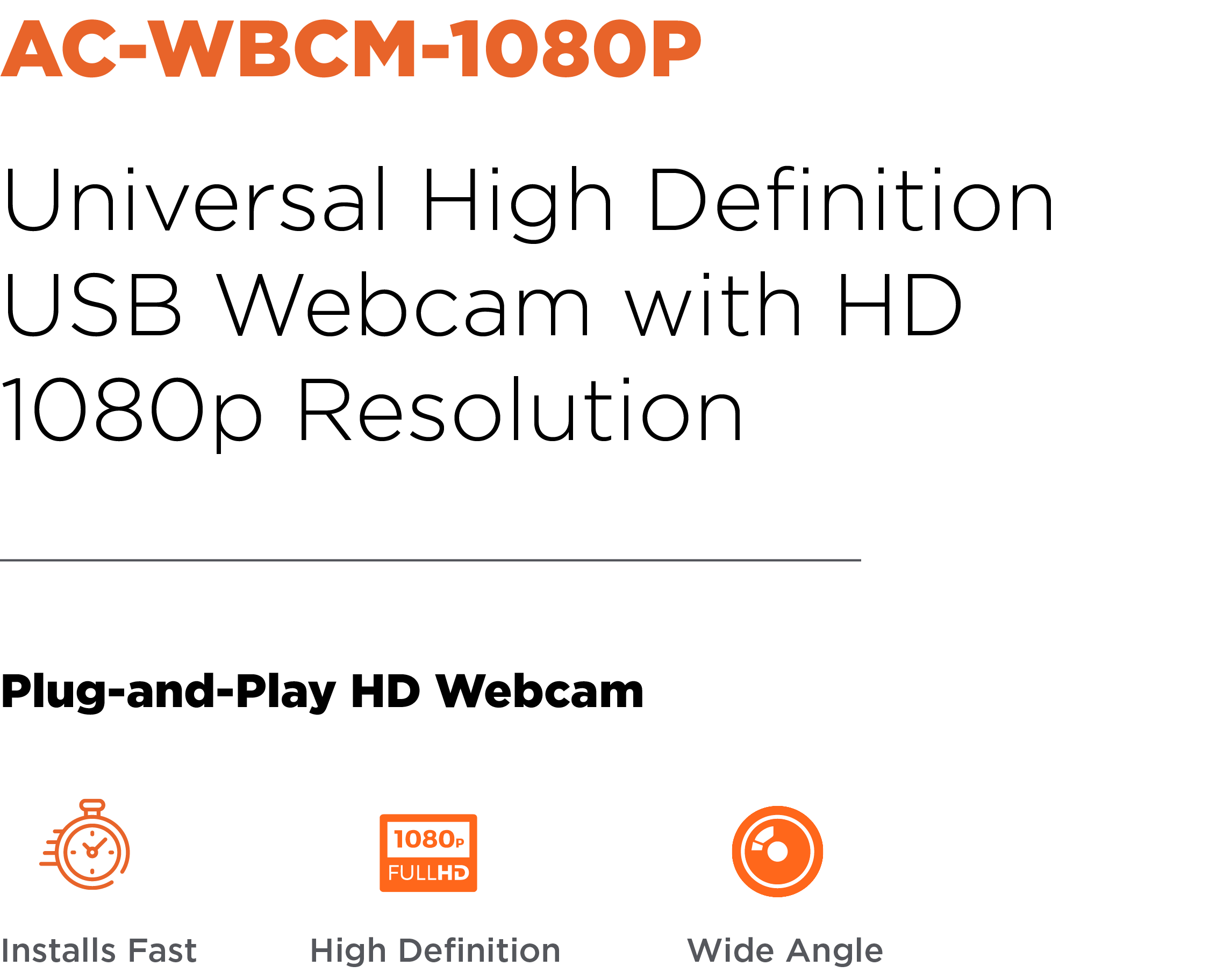 Anywhere Cart AC-WBCM-1080P: Header