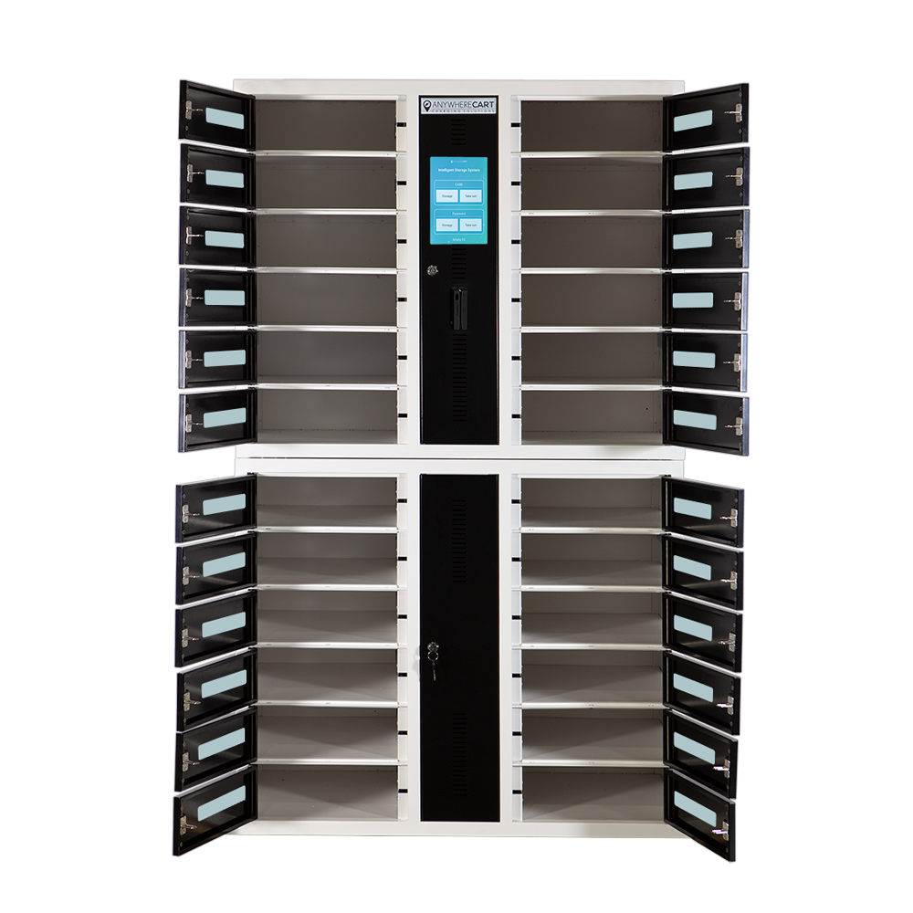 Anywhere Cart AC-LOCKER-24-RFID: Doors open image