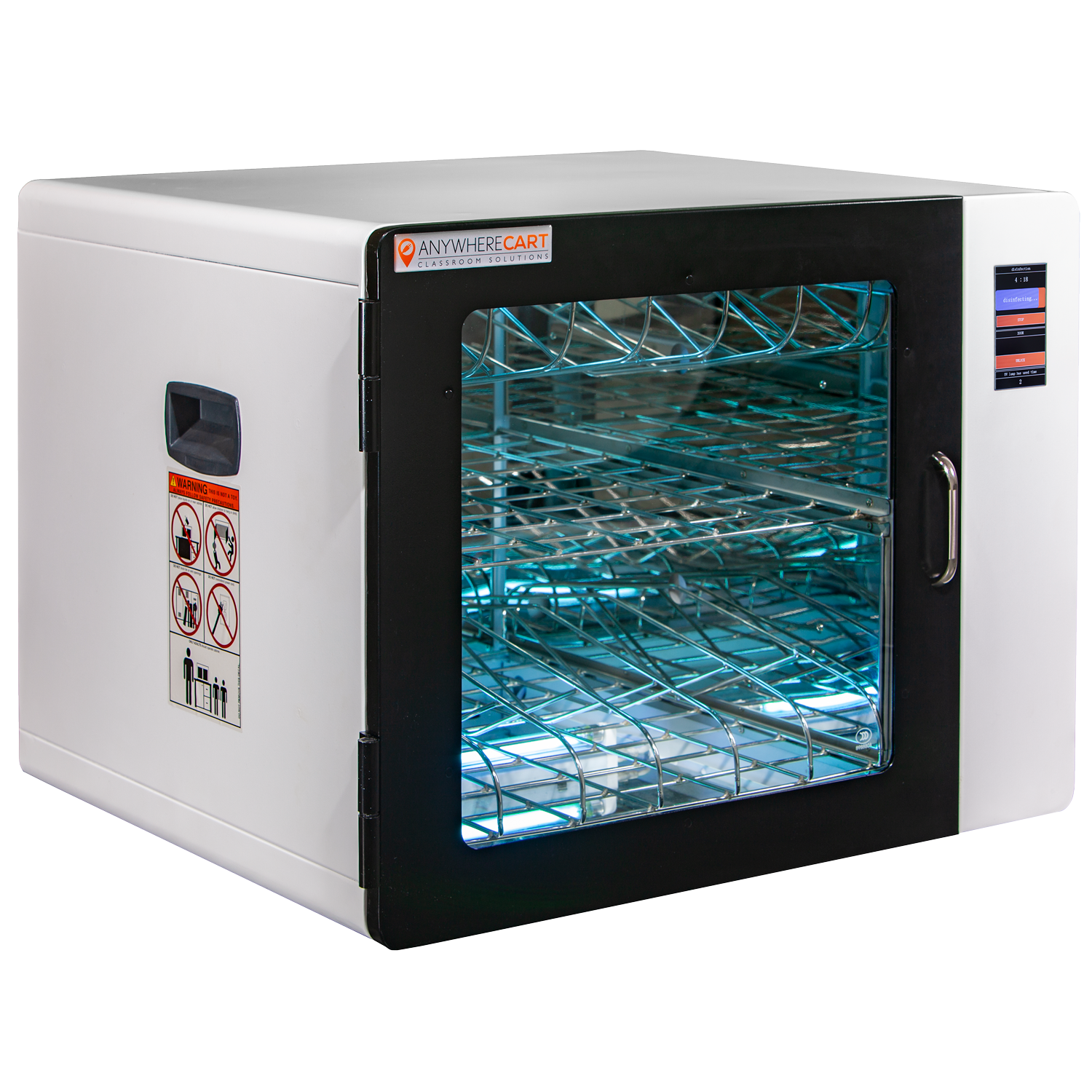 Anywhere Cart AC-CLEAN: Configurable UVC Sanitizing Cabinet - Closed image