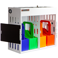 Anywhere Cart AC-GO-16 Charging Cabinet: Front, Open Image