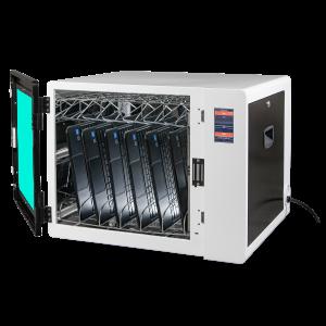 Anywhere Cart AC-CLEAN: Configurable UVC Sanitizing Cabinet - Open, Chromebooks image