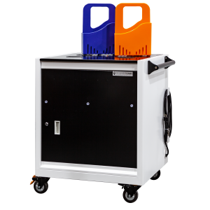 Anywhere Cart AC-GO: 32 Device Smart Charging Cart with Carry Out Baskets - Front Image
