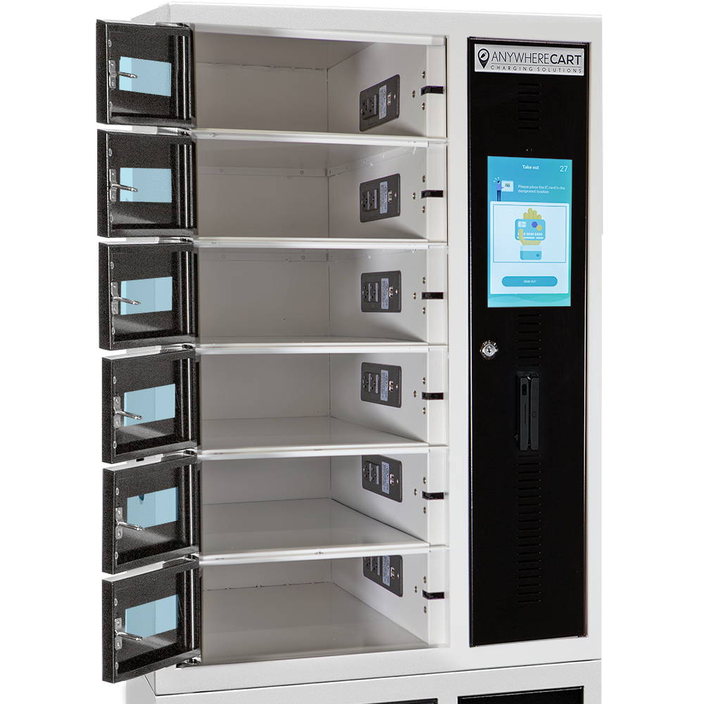 Anywhere Cart AC-LOCKER-12-RFID: Doors open image