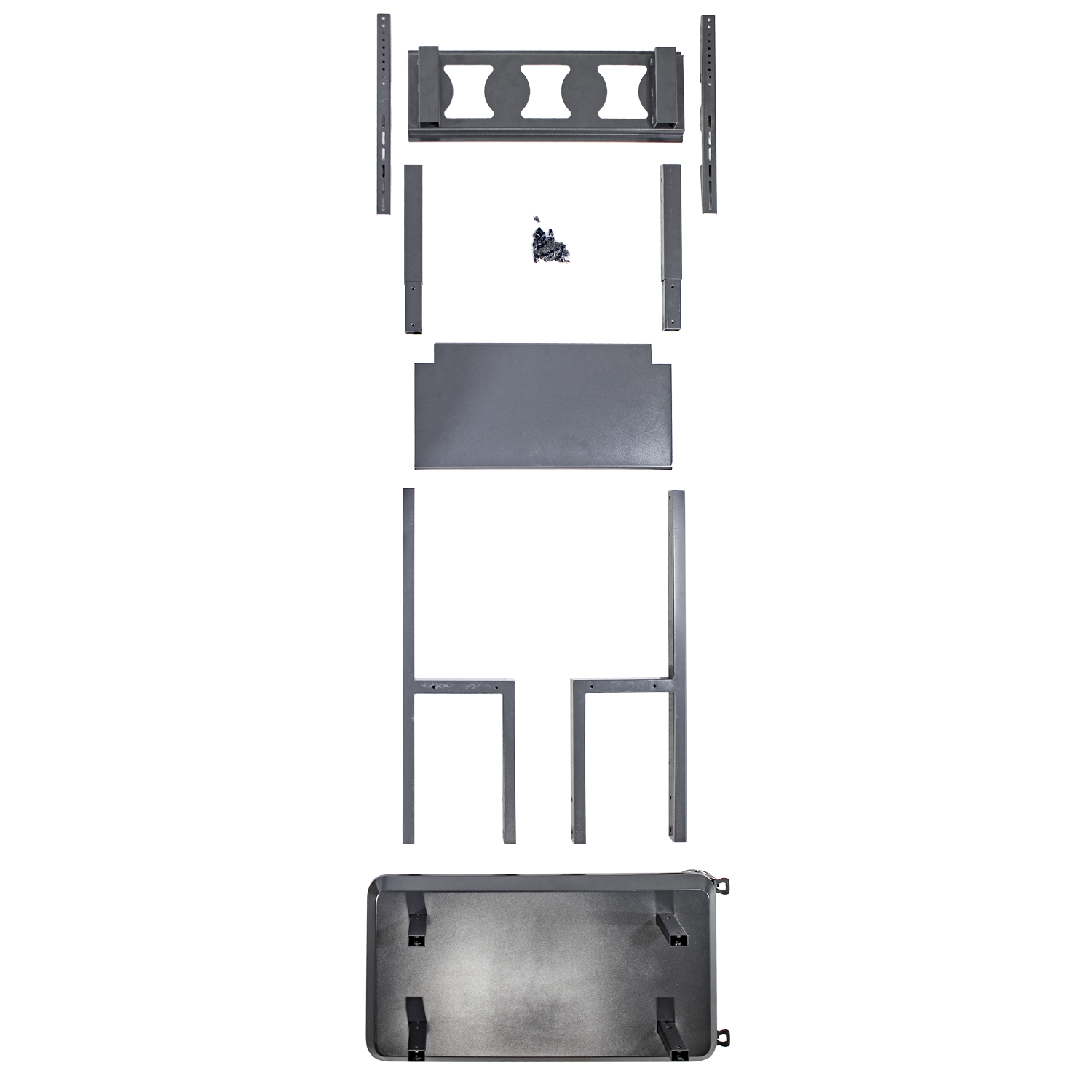 Anywhere Cart AC-STAND: Interactive Flat Panel Cart / Stand - Top view of parts image